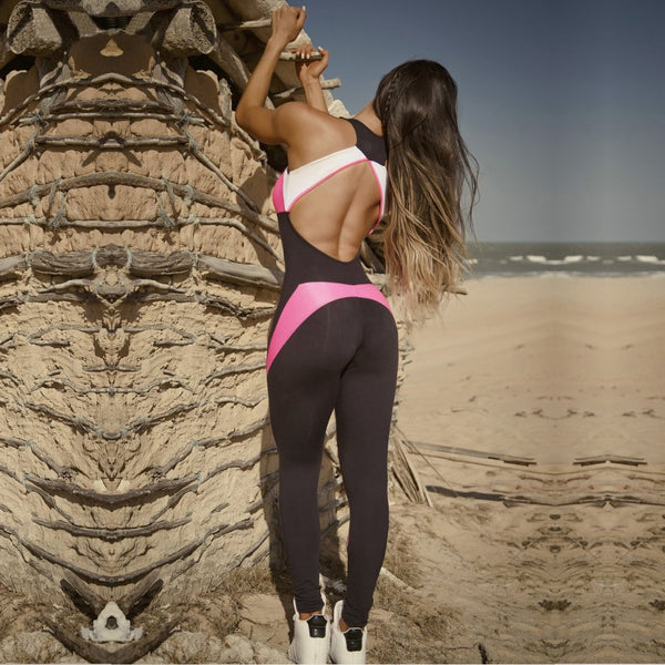 Candy Patchwork Fitness Jumpsuit