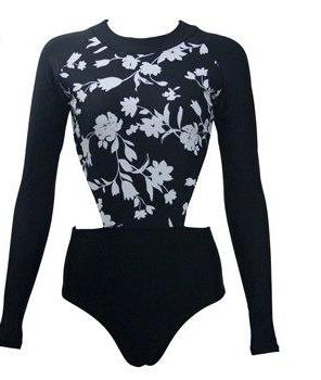 Lilly Floral Long Sleeve Swimsuit