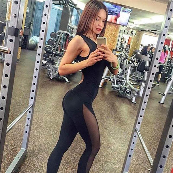 Outlaw Backless Fitness Jumpsuit