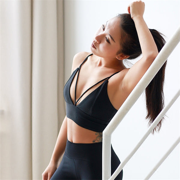 Heart Stealer strappy Sports bra