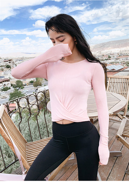 Vicky Long Sleeve Fitness Crop Top