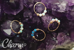 22G 9kt Gold Opal Nose Ring