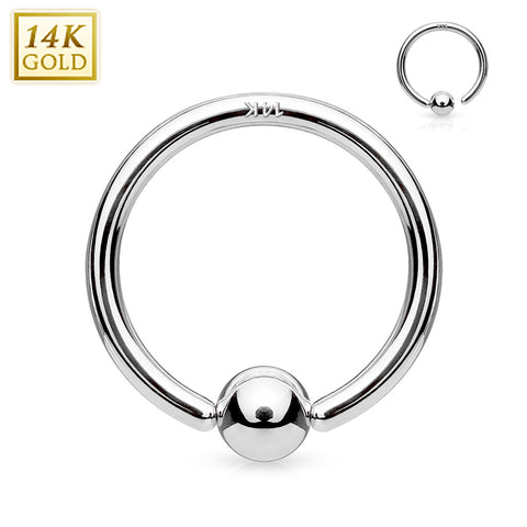 20G 14kt Gold Fixed Ball Ring