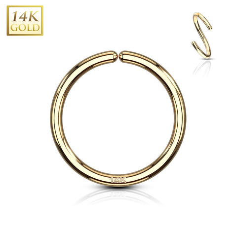 18G 14kt Gold Seamless Ring