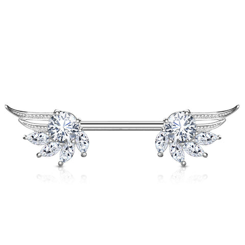 Marquise CZ Wing Nipple Bar