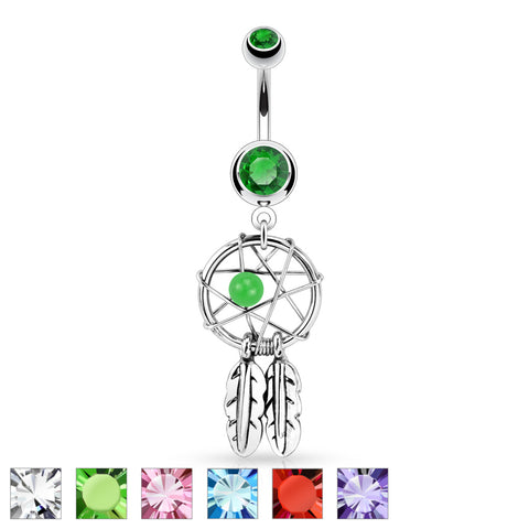 Dream Catcher Navel Bar