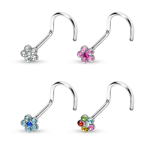 Gem Flower Nose Screw