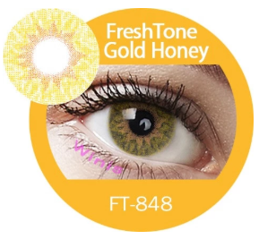 Colour Lenses - Gold Honey
