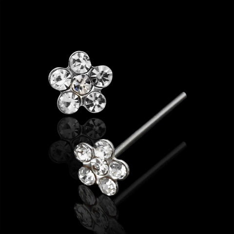 .925 Sterling Silver Flower Nose Stud