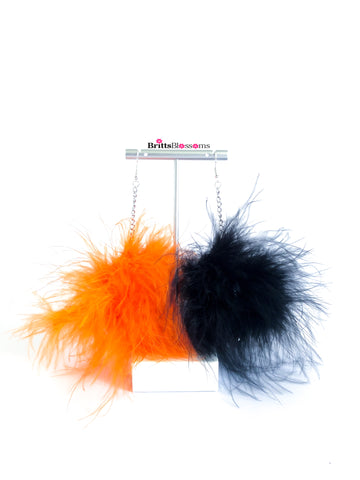 Halloween Fluff Earrings
