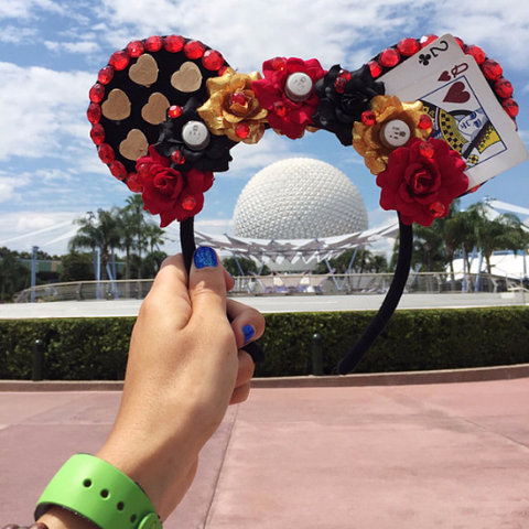 Queen of Hearts Mouse Ears at Disney Epcot
