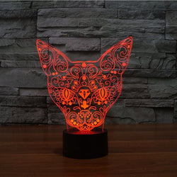 Limited Edition scary cat 3D Led Lamp
