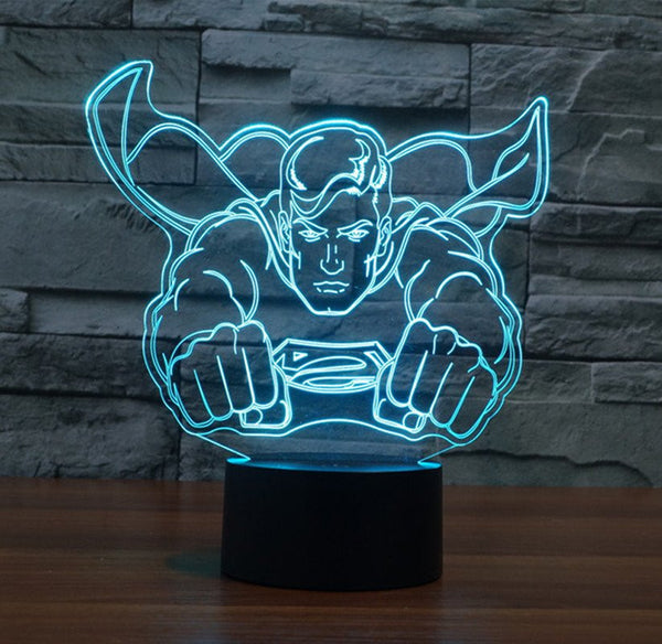 SuperMan 3D Led Lamp