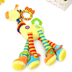 Soft Giraffe Plush toy with Handbells and teether for Infant Baby