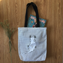 Cat Nap Canvas Shoulder Bag