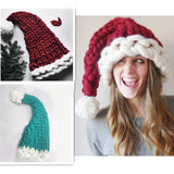 Chunky knit Santa Hat - Knitted Christmas hat
