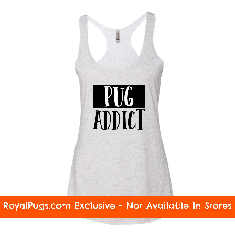 Pug Addict Racerback Tank Top