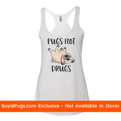 Pugs Not Drugs Racerback Tank Top