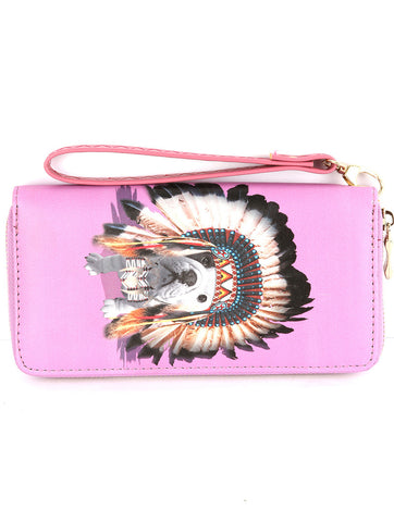 Indian Chief Frenchie Wallet/Clutch