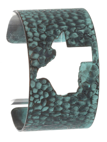 Texas Cutout Hammered Aged Metal Cuff - Texan Traders