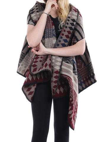 Tribal Pattern Shawl/Vest Scarf