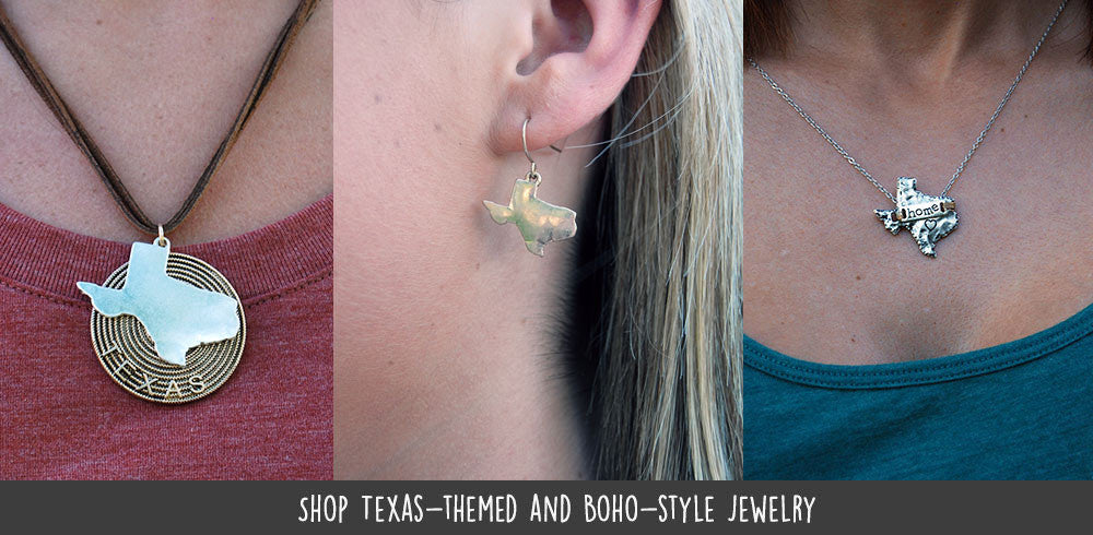 Shop Texas-themed and Boho-style Jewelry