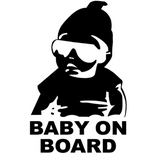 Baby on Board Vinyl Car Sticker Carlos from The Hangover Movie by Baby in Motion