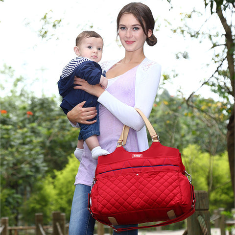 Darien Quilted Mom Bag by Baby in Motion