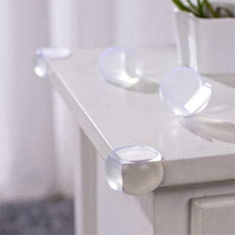 5 Piece Clear Silicone Table Corner Edge Protector by Baby in Motion