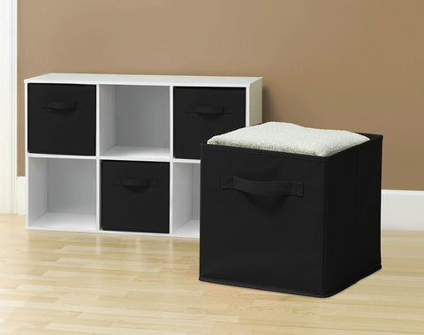 4-Piece Fabric Storage Cubes