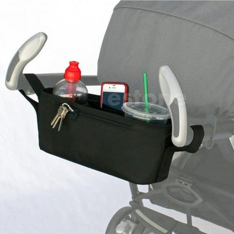 Baby Stroller Drink Holder with Storage by Baby in Motion