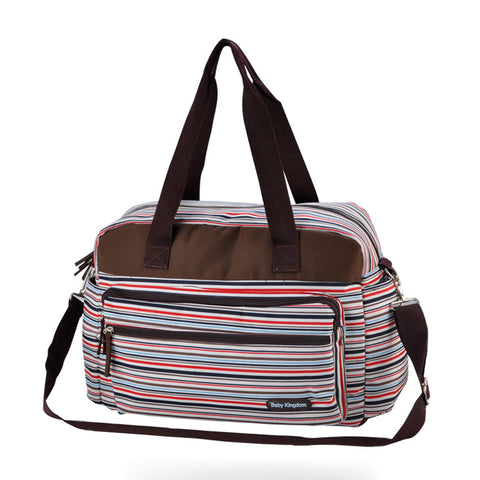 Baby Kingdom Striped Diaper Bag by Baby in Motion