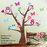 Wise Owls on Colorful Tree Wall Decal by Baby in Motion