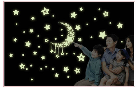 Glow in the Dark Moon and Star Decals by Baby in Motion