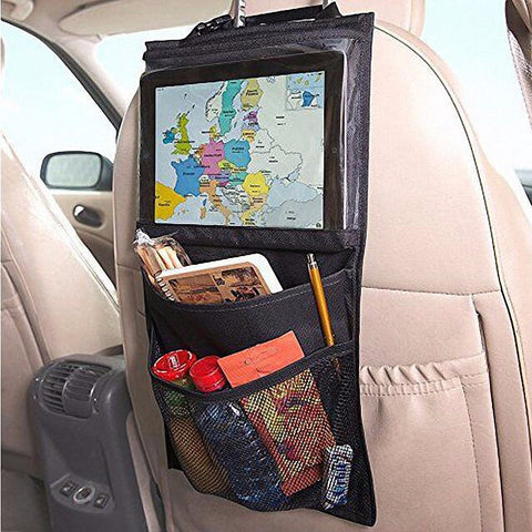 Car Seat Back Tablet Holder with Storage by Baby in Motion