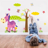 Cartoon Animals in the Forest Wall Decal Stickers by Baby in Motion