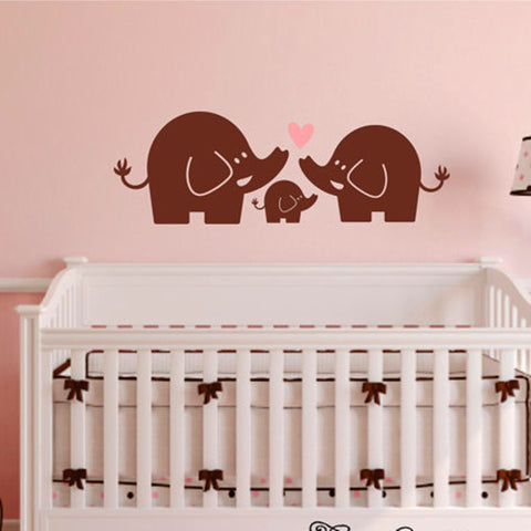 Elephant Family Wall Decal by Baby in Motion