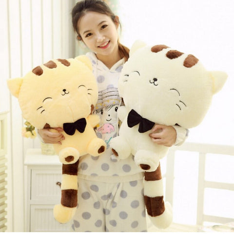 Big Face Cat Stuffed Animal Pillow by Baby in Motion