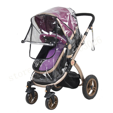 Baby Stroller Rain Cover with Roll-Up Cover by Baby in Motion