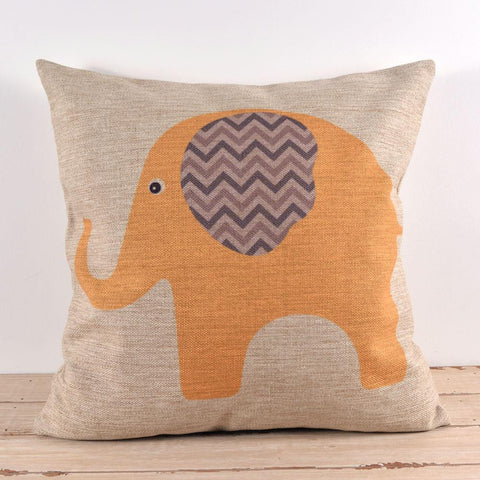 Cartoon Elephant Pillow Case by Baby in Motion