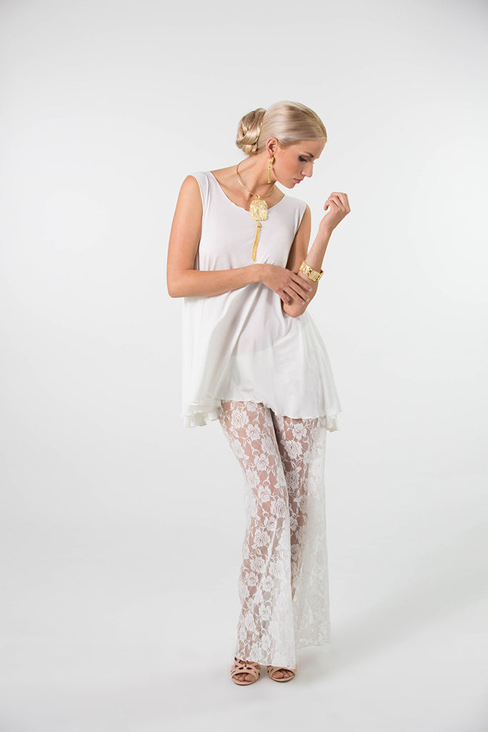 Dream Goddess Lace Palazzo Pants