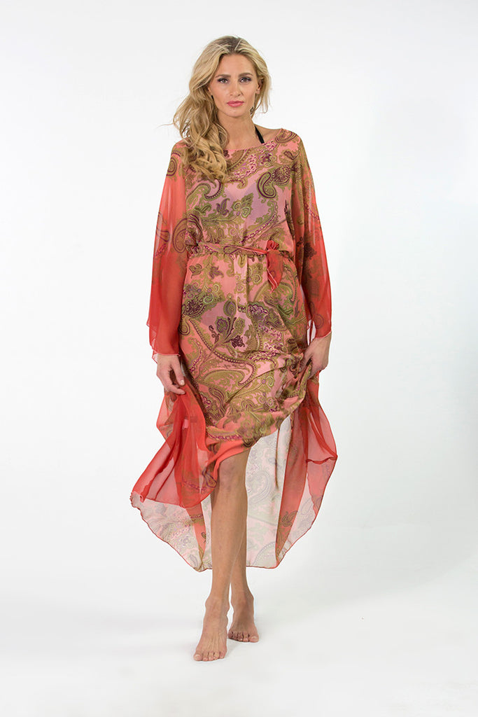 Papillon Long Chiffon Dress