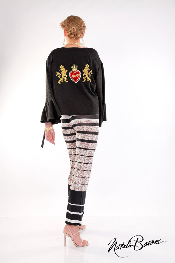 Embroidered Bell Sleeve Crop Jacket - San Remo