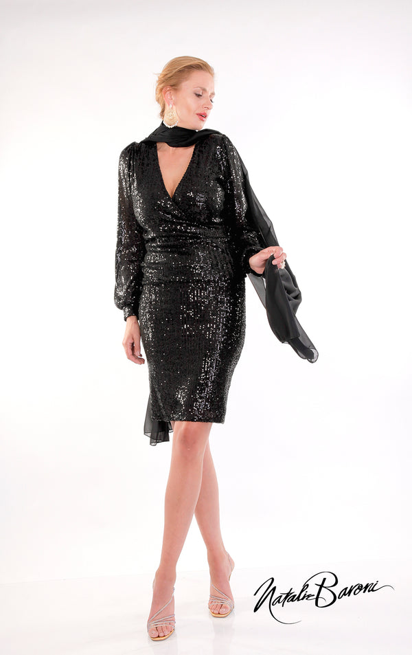 Short Sequin Skirt - La Scala