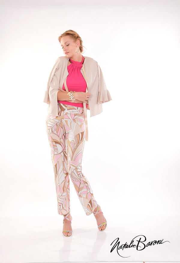3/4 Bell Sleeve Crop Jacket - Positano