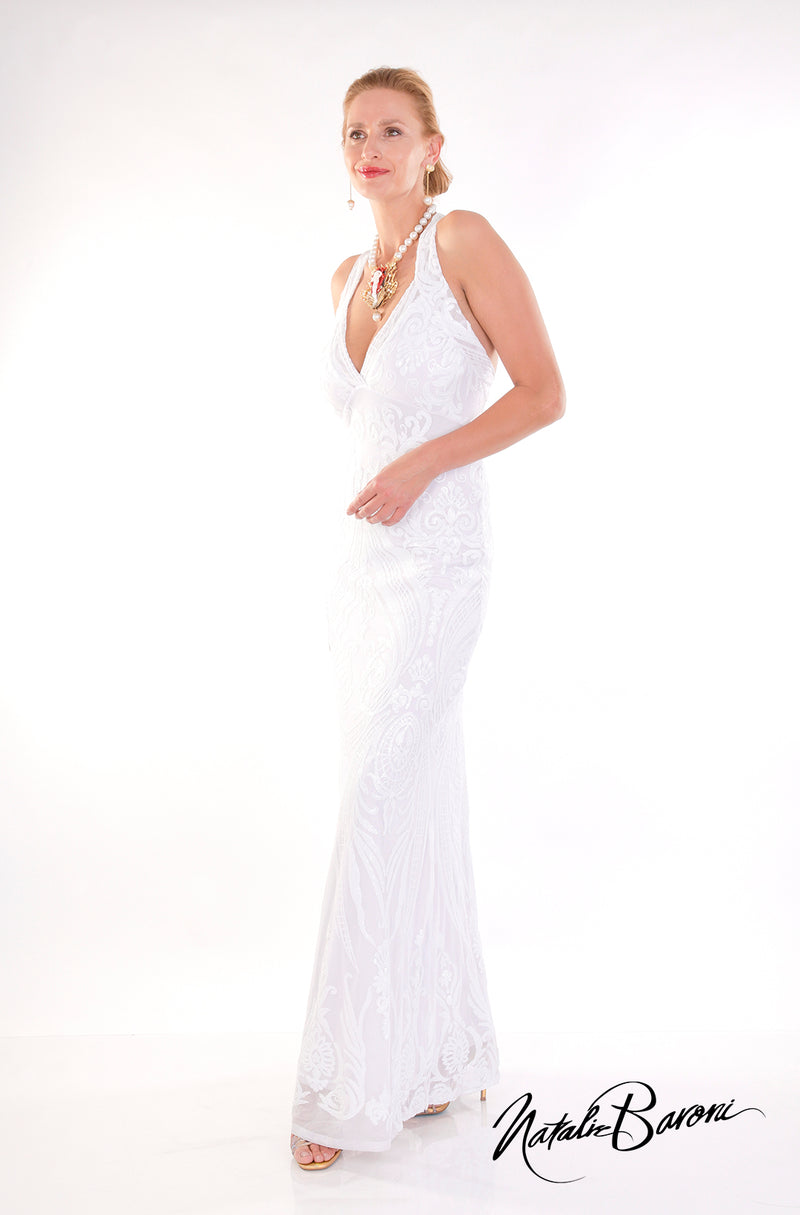 White Evening Gown - La Scala
