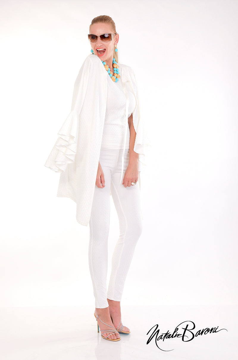 Long Bell Sleeve Jacket - Amalfi