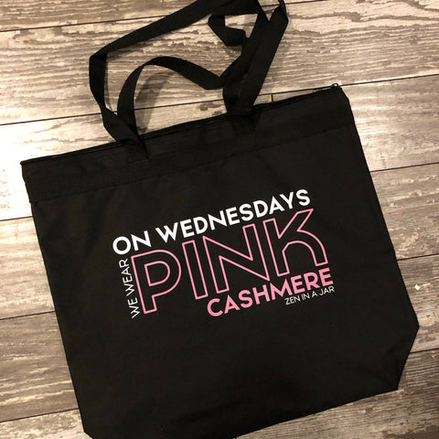 On Wednesdays We Wear Pink Cashmere Tote