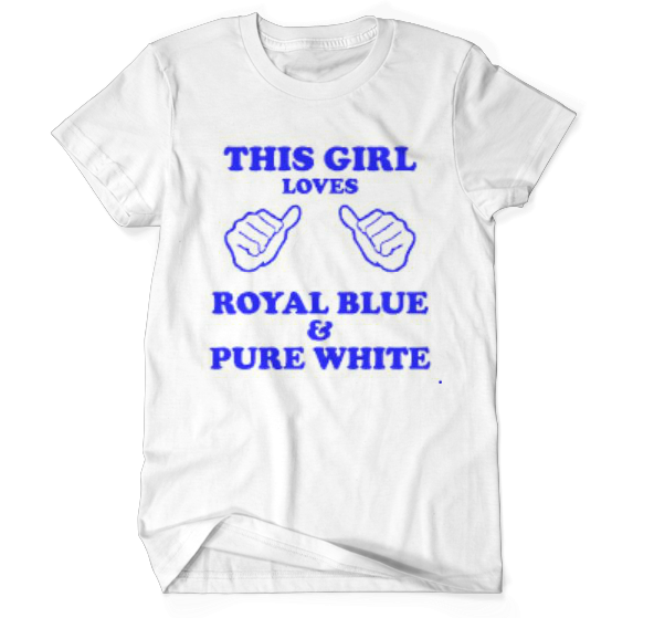 This Girl Loves Royal Blue & Pure White
