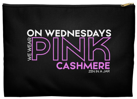 On Wednesdays Wear Pink Cashmere Makeup Bag